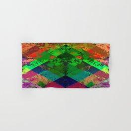 Beauty In Symmetry - Abstract, geometric, textured, symmetrical artwork Hand & Bath Towel