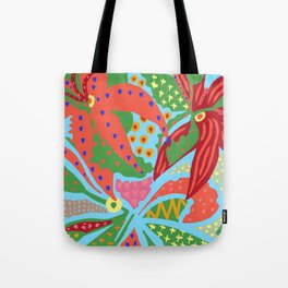 Exotic Flowers In The Glasshouse Tote Bag