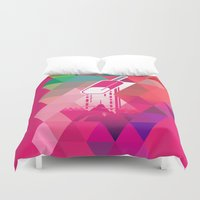 popsicle Duvet Covers featuring Raspberry Popsicle by Spires