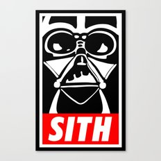 Obey Darth Vader (sith text version) - Star Wars Canvas Print