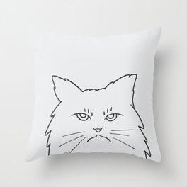 Angry Kitty Throw Pillow