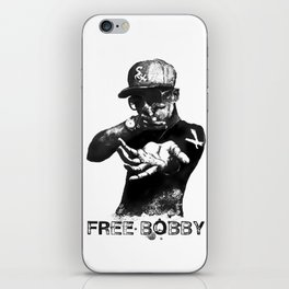 Free Bobby Shmurda Lithograph iPhone Skin