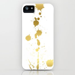 Golden abstract #2 iPhone Case