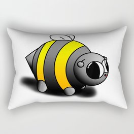 Possibly the cutest bee ever drawn by human hands Rectangular Pillow