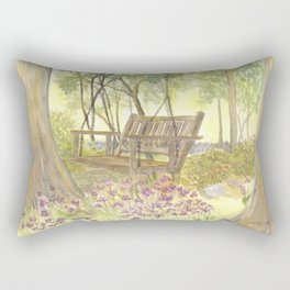 Bedrock Garden Spring on In and Out Pathway Rectangular Pillow