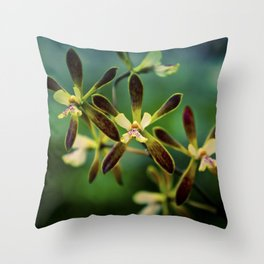Tiny Orchids Throw Pillow