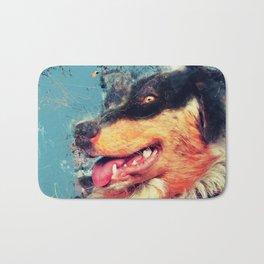 australian shepherd dog Bath Mat