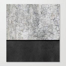 Rock the Casbah // concrete and paint colorblock collage Canvas Print