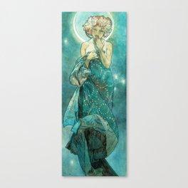 Alphonse Mucha Moonlight Art Nouveau Canvas Print