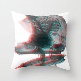 Helmet Brain Throw Pillow