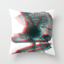 Helmet Brain Throw Pillow