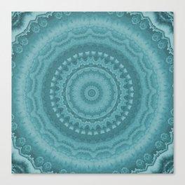 Kaleidescope blues Canvas Print