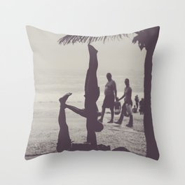 Yoga in Rio Throw Pillow