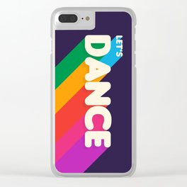 RAINBOW DANCE TYPOGRAPHY- let's dance Clear iPhone Case