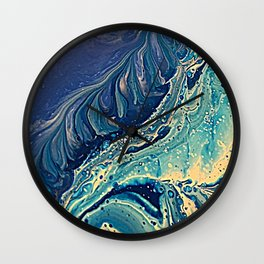 waves of blue Wall Clock