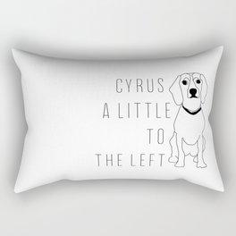 Cyrus, A Little To The Left Rectangular Pillow