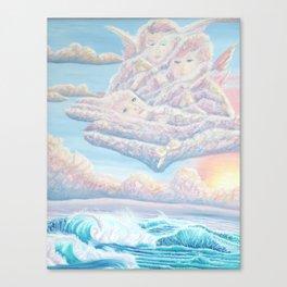 Les anges gardiens de l'amour Canvas Print