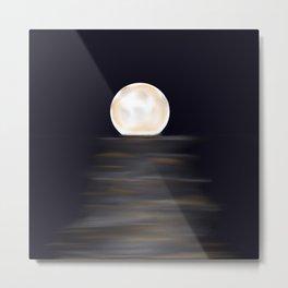 moon digital design Metal Print