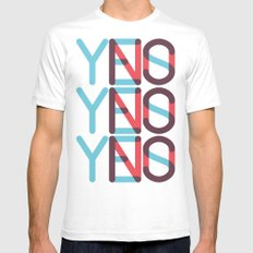 Yes/No Mens Fitted Tee SMALL White