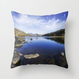 Llynnau Mymbyr Throw Pillow