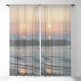 Sunset Ocean Bliss #1 #nature #art #society6 Sheer Curtain