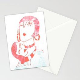 Jewels around your neck Stationery Cards