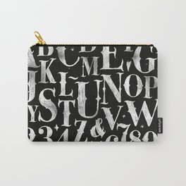 Vintage gothic alphabet chalk Carry-All Pouch