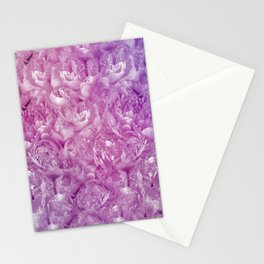 Purple and Pink Peonies Stationery Cards