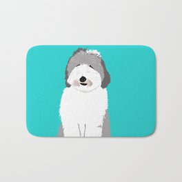 Lucy The Sheepadoodle Bath Mat