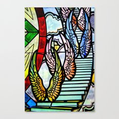 Wings & Stairs Canvas Print