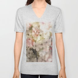 Apple Blossoms Dream Unisex V-Neck