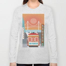 San Francisco, California - Skyline Illustration by Loose Petals Long Sleeve T-shirt