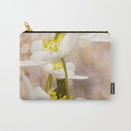 Black Cat With White Flowers #decor #buyart #society6 Carry-All Pouch