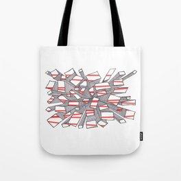 Red Fragmentation Tote Bag