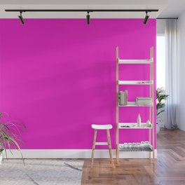 From The Crayon Box – Purple Pizza - Bright Pink Purple Solid Color Wall Mural