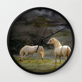 Stallions of the Gods Wall Clock