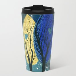 Night Family - Abstract family portrait in trees Travel Mug