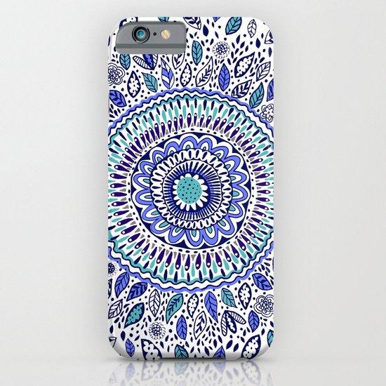 Indigo Flowered Mandala iPhone & iPod Case
