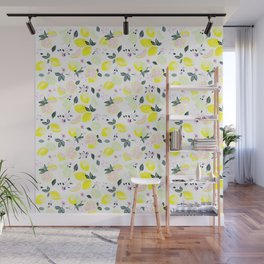 Pink Lemonade Citrus and Flowers Wall Mural