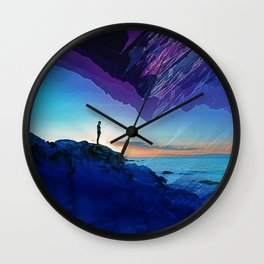 Since the moment I left Purple Wall Clock