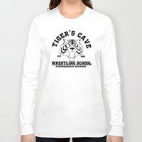wrestling Long Sleeve T-shirts featuring Tiger's cave wrestling school by CarloJ1956
