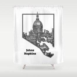 Hopkins White Shower Curtain