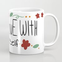 paramore Mugs featuring Fall in love with yourself by ....