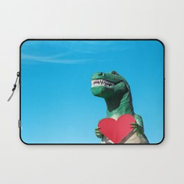 Tiny Arms, Big Heart: Tyrannosaurus Rex with Red Heart Laptop Sleeve
