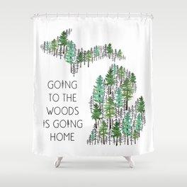 Michigan Woods Shower Curtain