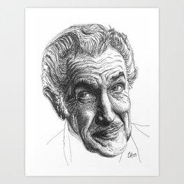 Vincent Price Art Print