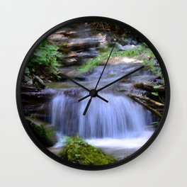 Little Creek Running Down Wall Clock
