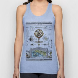 Sphere Armillaire - Astronomical and Cosmographical Chart Unisex Tank Top