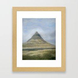 Iceland Mountain Framed Art Print