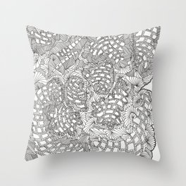 FRACTAL SPACE SHRAPNEL! Throw Pillow